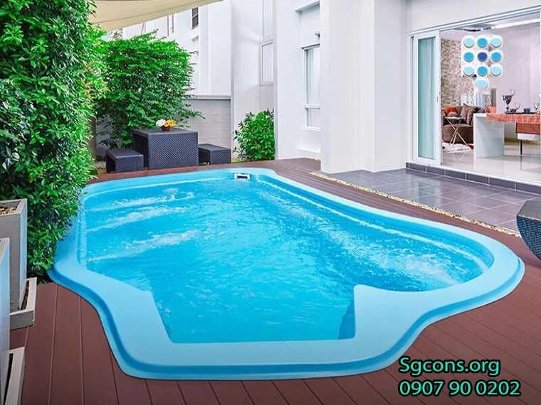 Bể bơi vật liệu composite có dự toán đầu tư rẻ hơn